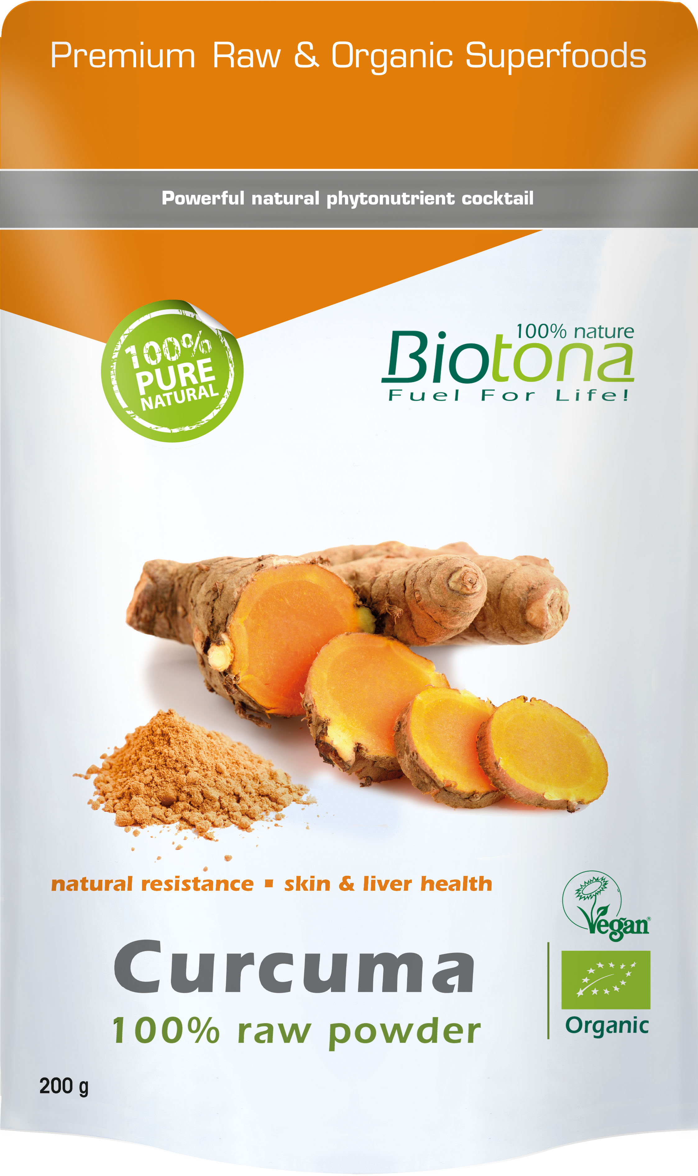 CURCUMA 100% RAW POWDER 200 G- BIOCEUTICA