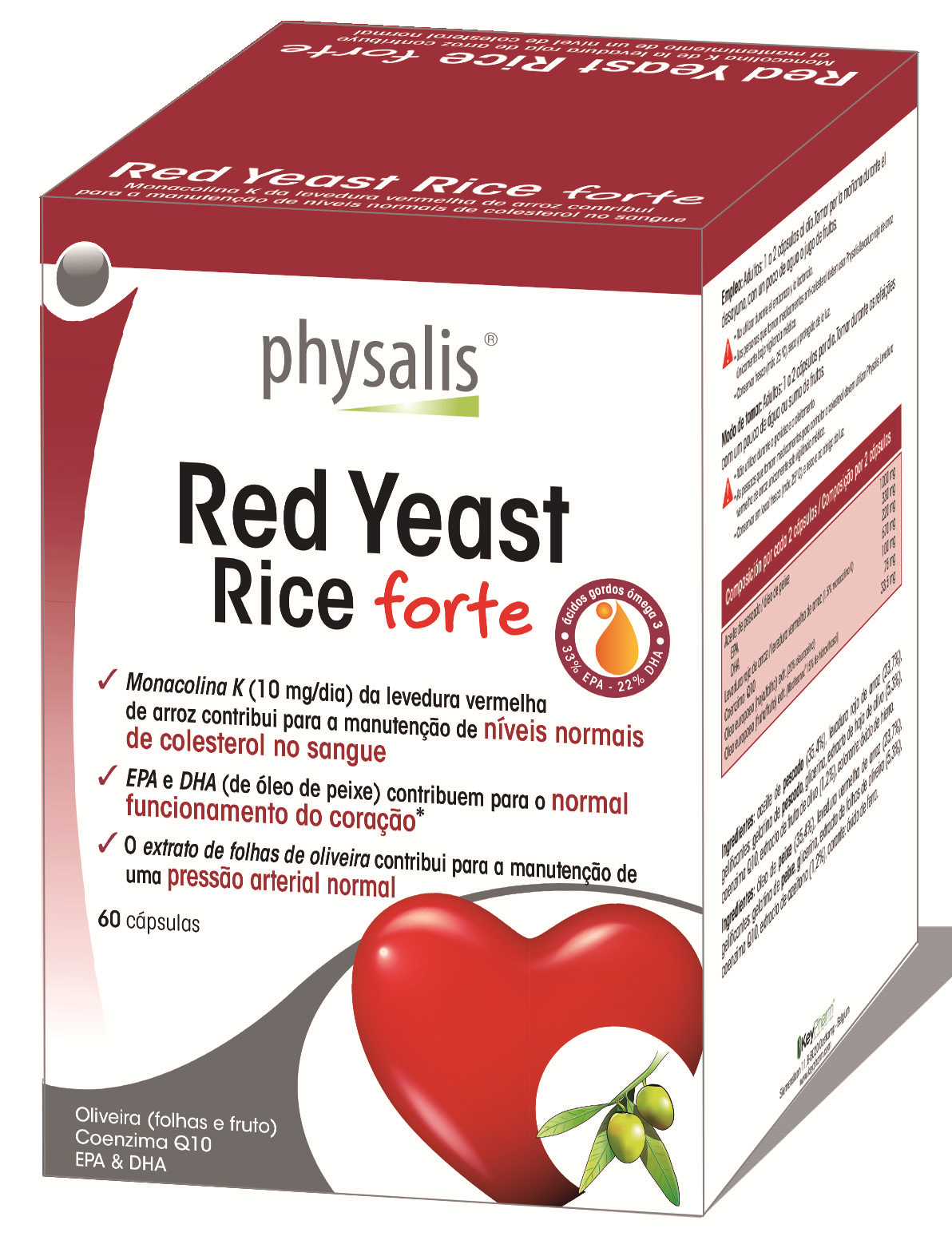RED YEAST RICE FORTE 60 CÁPSULAS- PHYSALIS