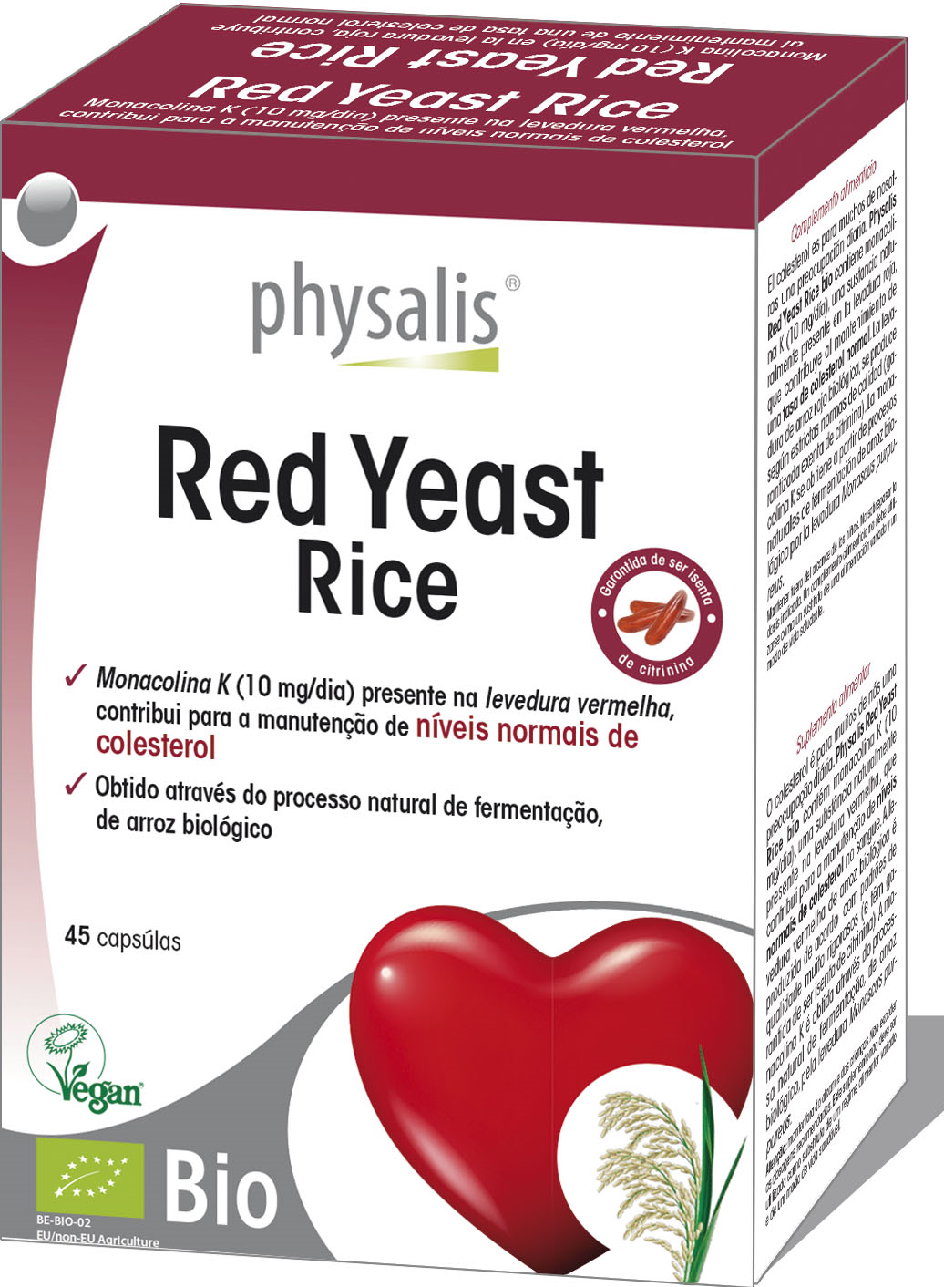 RED YEAST RICE 45 CÁPSULAS- PHYSALIS